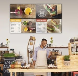 we install Digital Menu Boards, Digital Signage Solutions